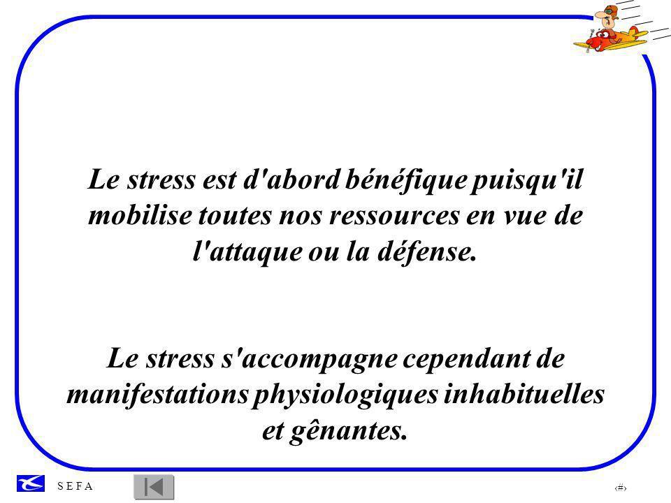 Le stress est d abord bénéfique puisqu il mobilise toutes nos ressources en vue de l attaque ou la défense.