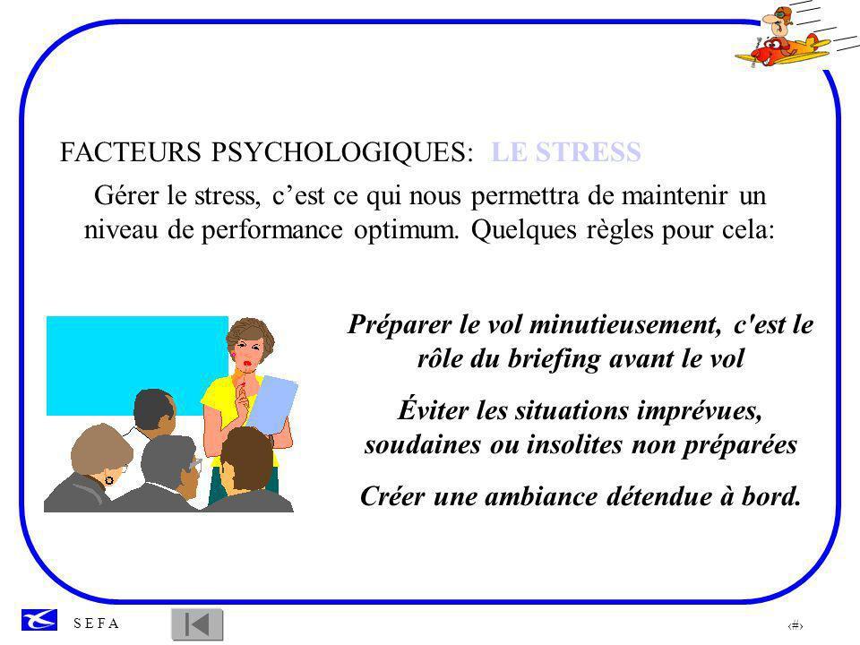 FACTEURS PSYCHOLOGIQUES: LE STRESS
