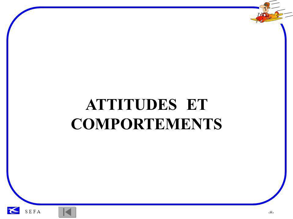 ATTITUDES ET COMPORTEMENTS ATTITUDES ET COMPORTEMENTS