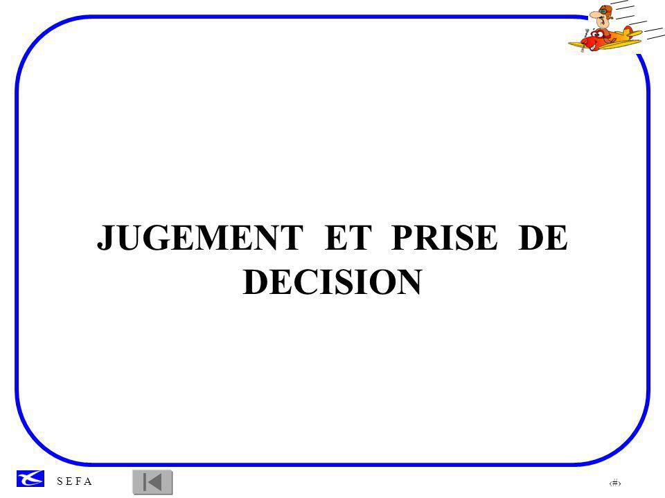 JUGEMENT ET PRISE DE DECISION