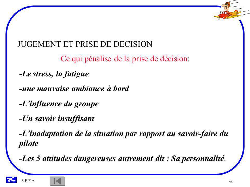 Ce qui pénalise de la prise de décision: