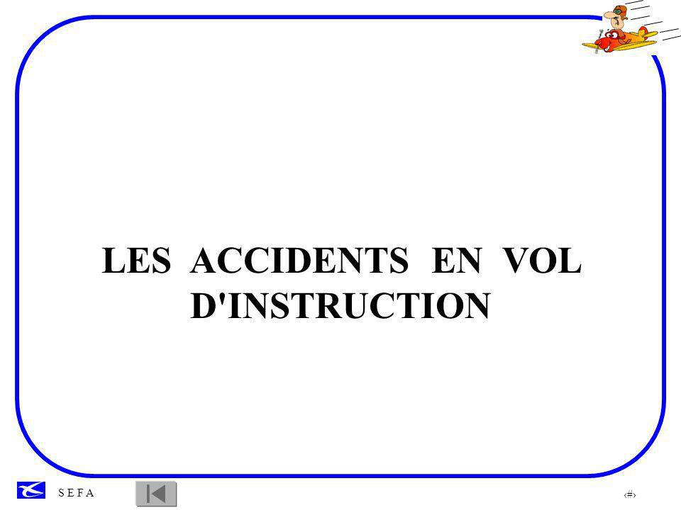 LES ACCIDENTS EN VOL D INSTRUCTION