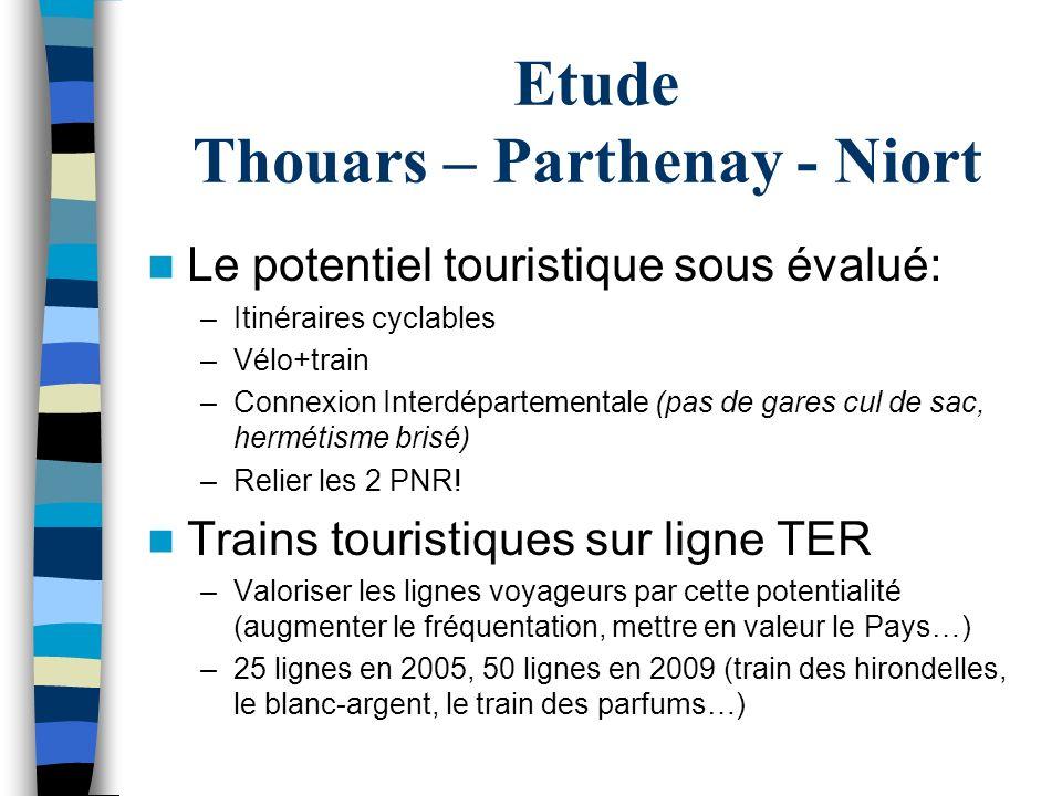 Etude Thouars – Parthenay - Niort