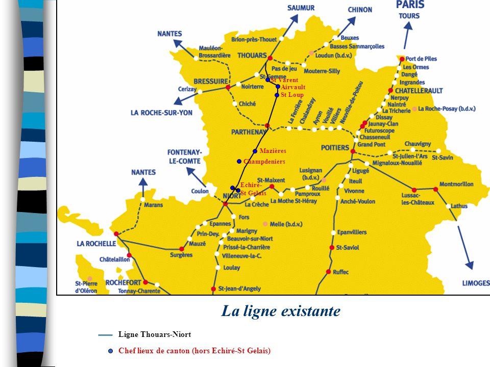 La ligne existante Ligne Thouars-Niort