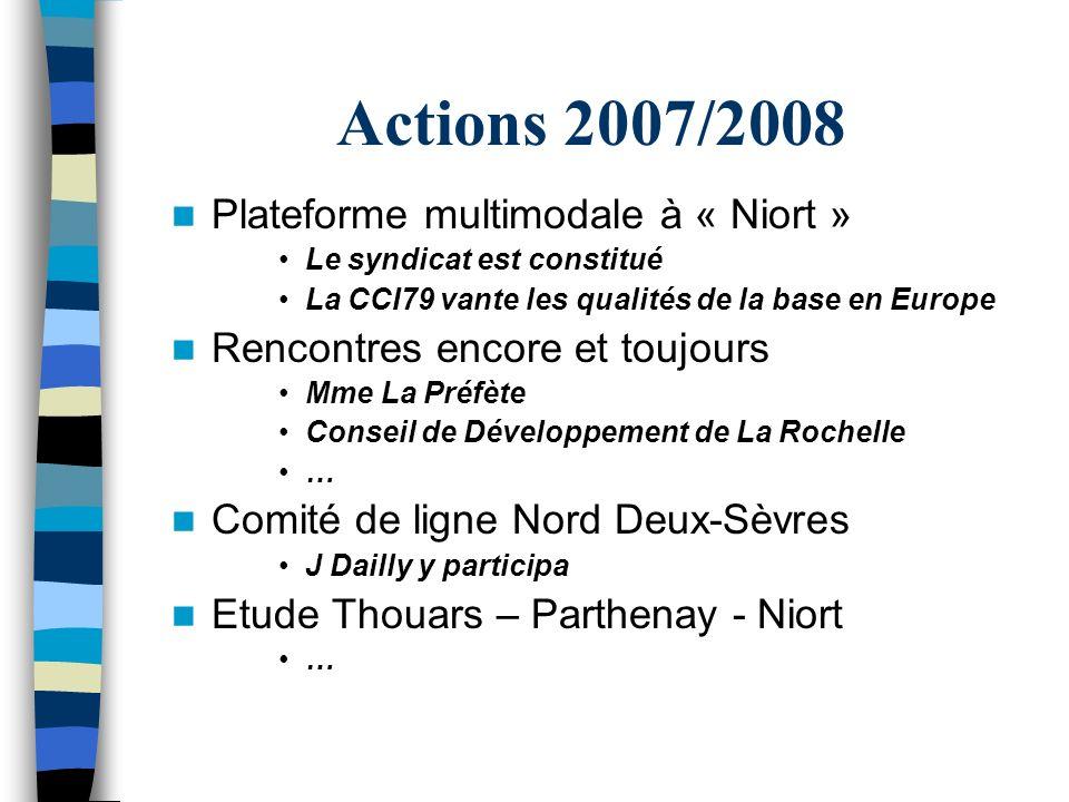 Actions 2007/2008 Plateforme multimodale à « Niort »