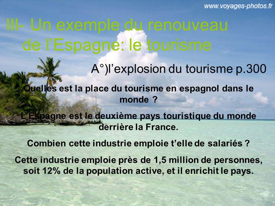 III- Un exemple du renouveau de l'Espagne: le tourisme