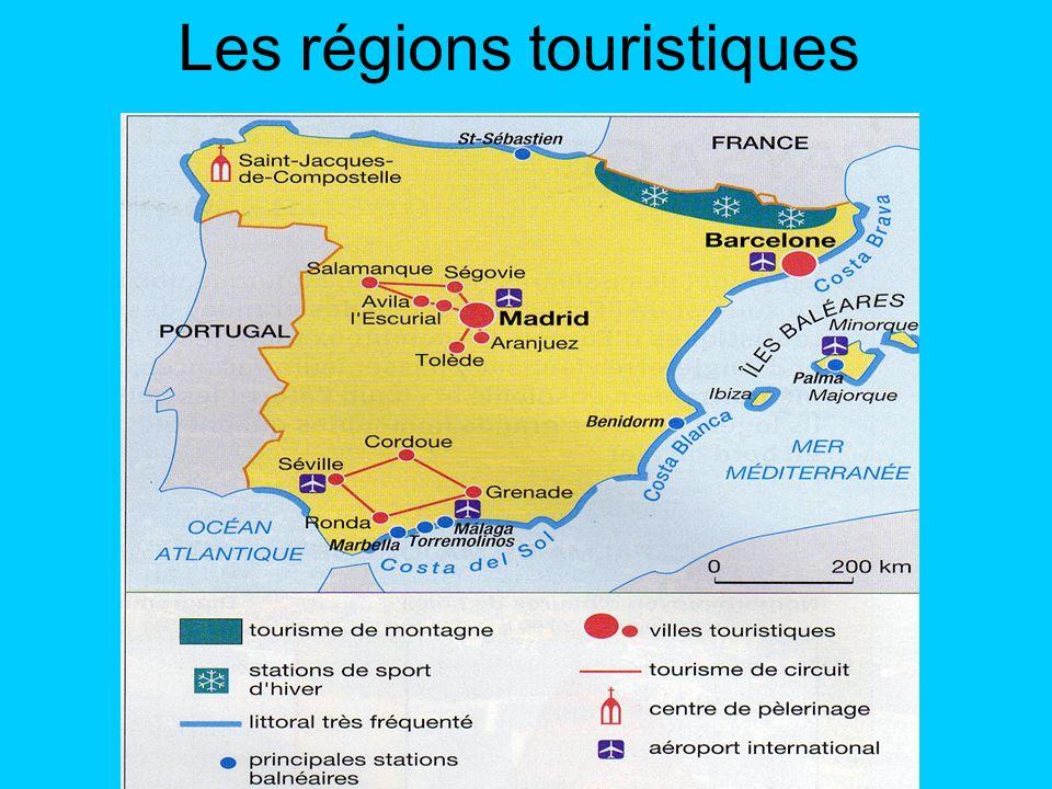 Les régions touristiques