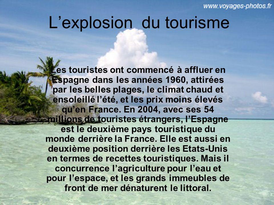 L'explosion du tourisme