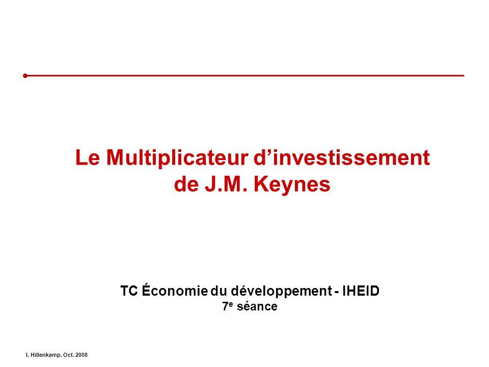 Le Multiplicateur d'investissement de J.M. Keynes