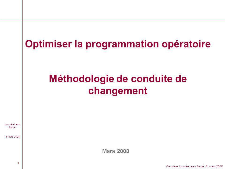 Optimiser la programmation opératoire