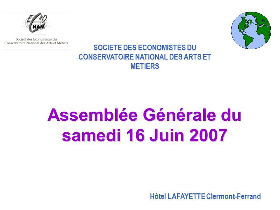 Assemblée Générale du samedi 16 Juin 2007