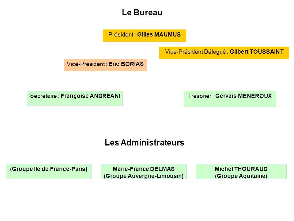 (Groupe Ile de France-Paris) (Groupe Auvergne-Limousin)