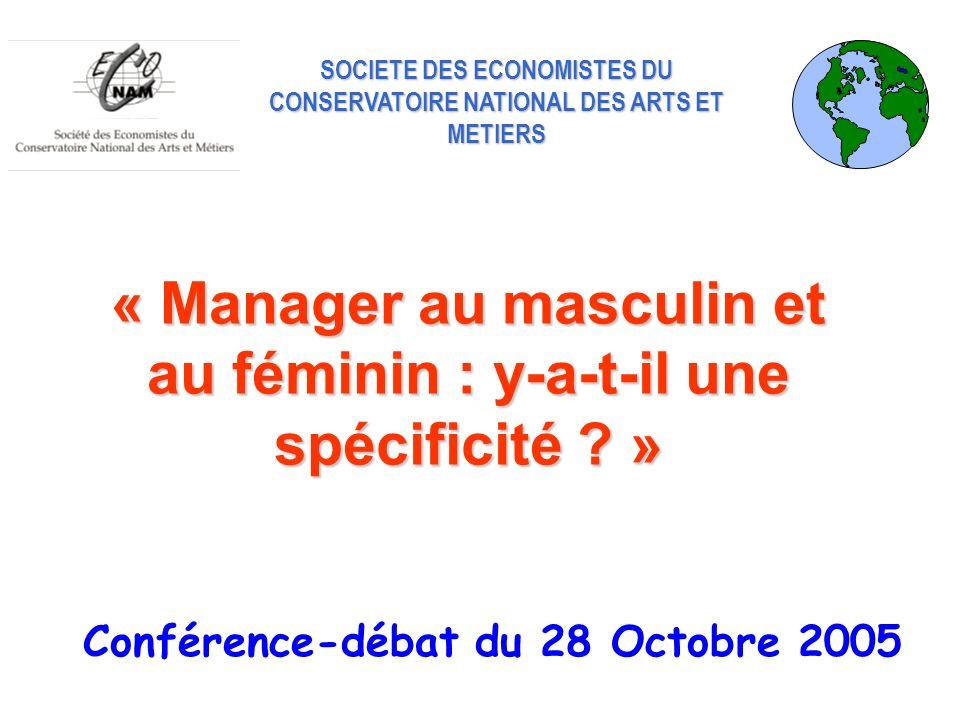 « Manager au masculin et au féminin : y-a-t-il une spécificité »