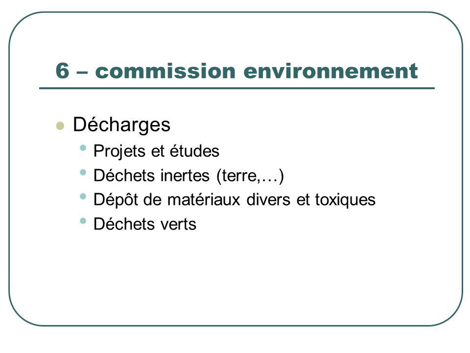 6 – commission environnement