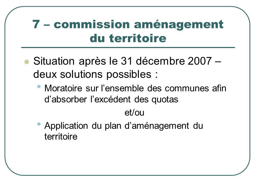 7 – commission aménagement du territoire