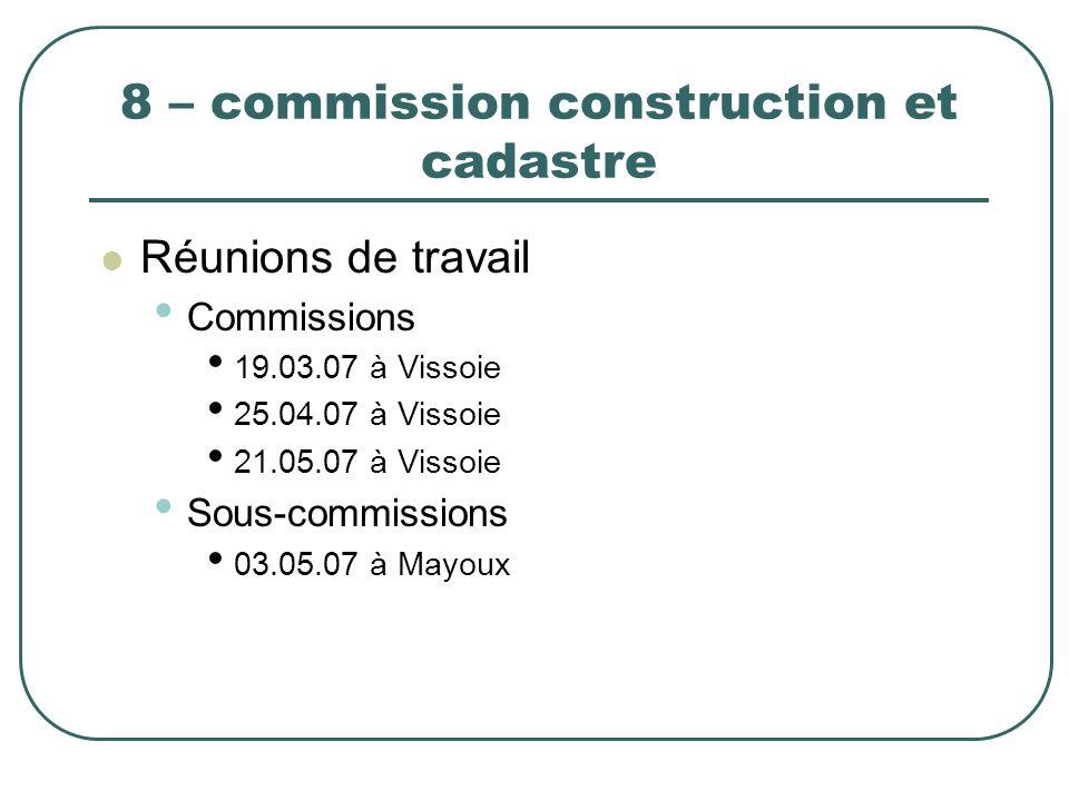 8 – commission construction et cadastre