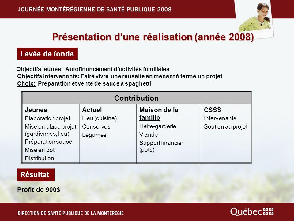Présentation d'une réalisation (année 2008)