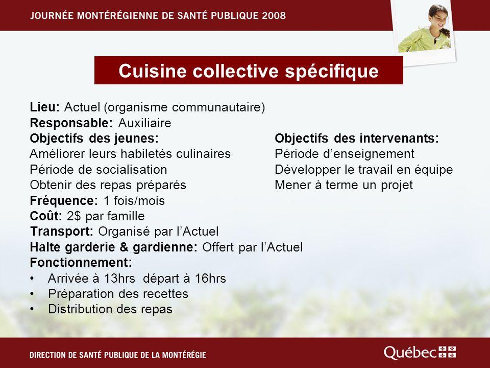Cuisine collective spécifique