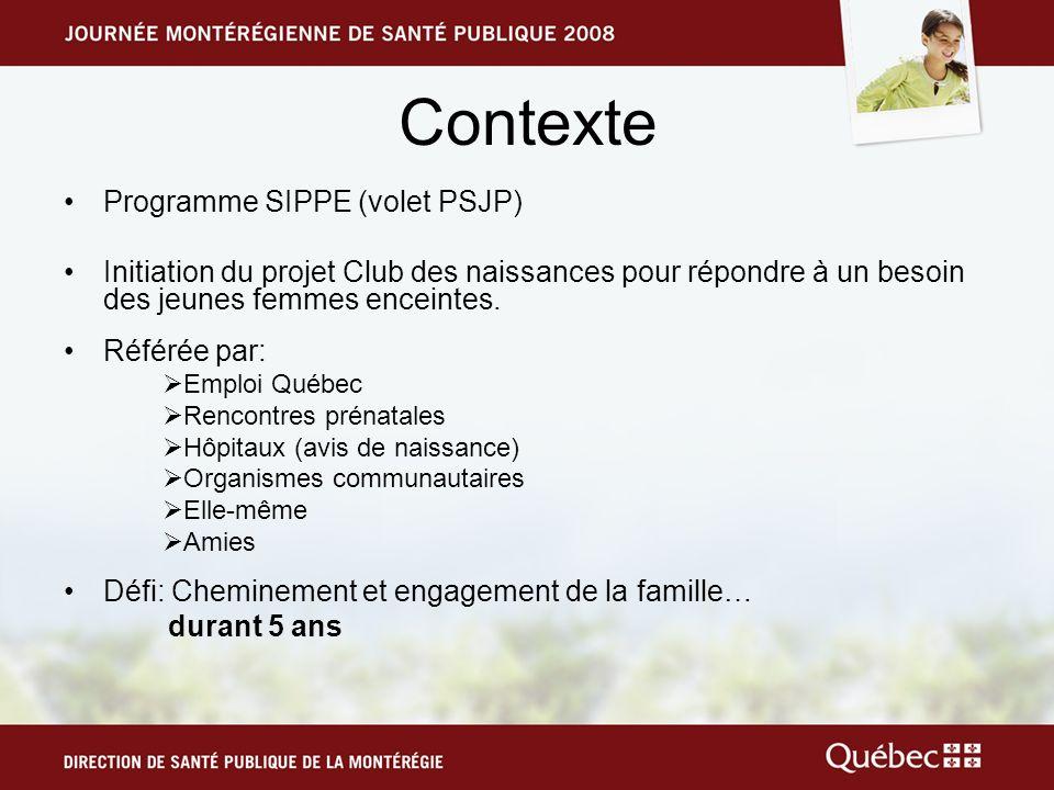Contexte Programme SIPPE (volet PSJP)