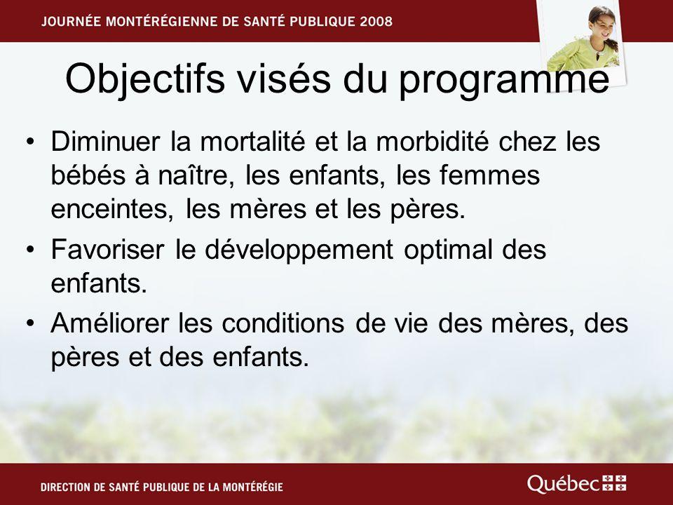Objectifs visés du programme