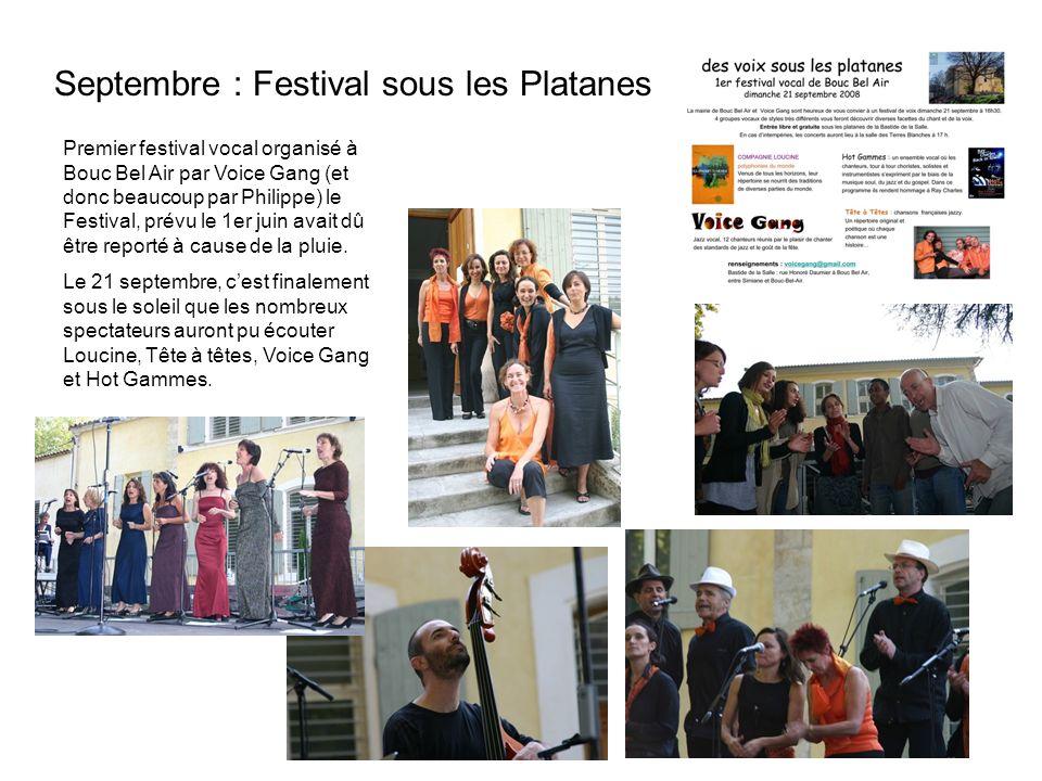 Septembre : Festival sous les Platanes