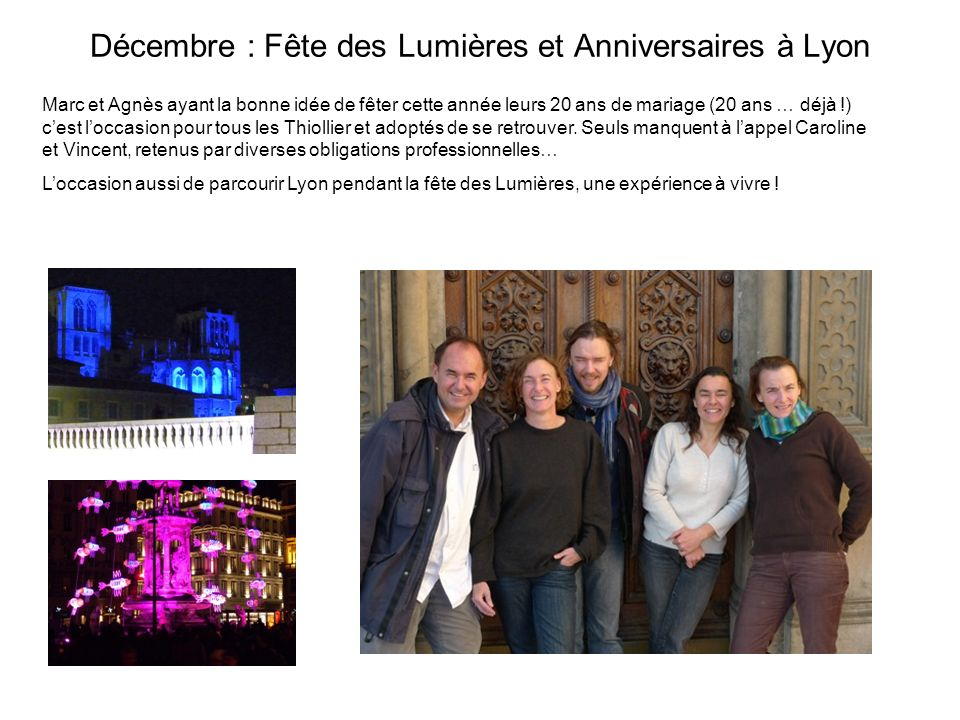 Décembre : Fête des Lumières et Anniversaires à Lyon