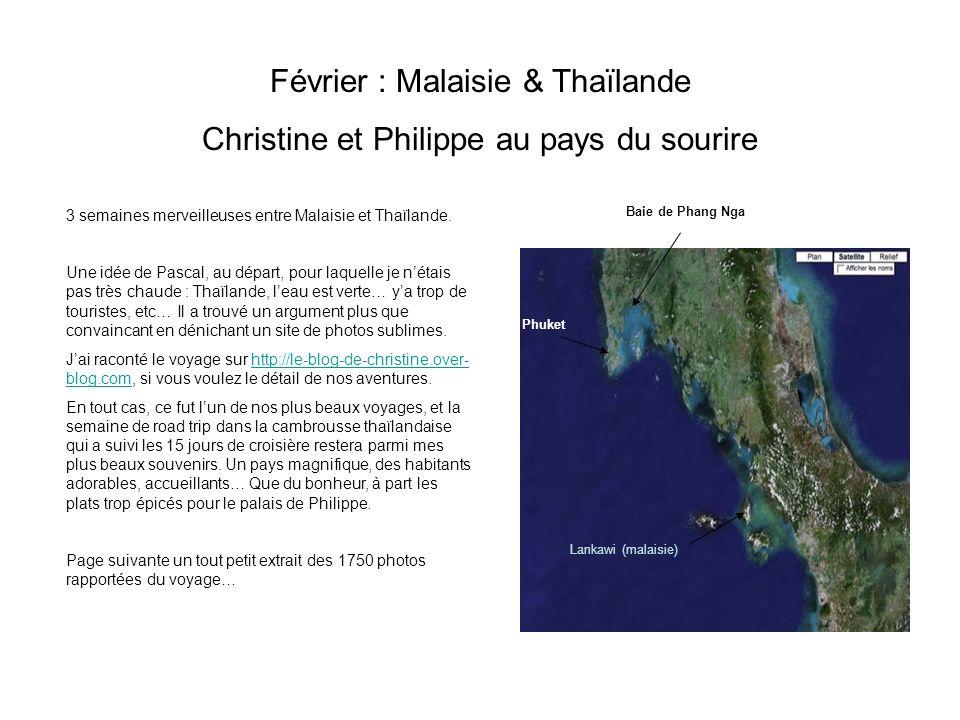 Février : Malaisie & Thaïlande