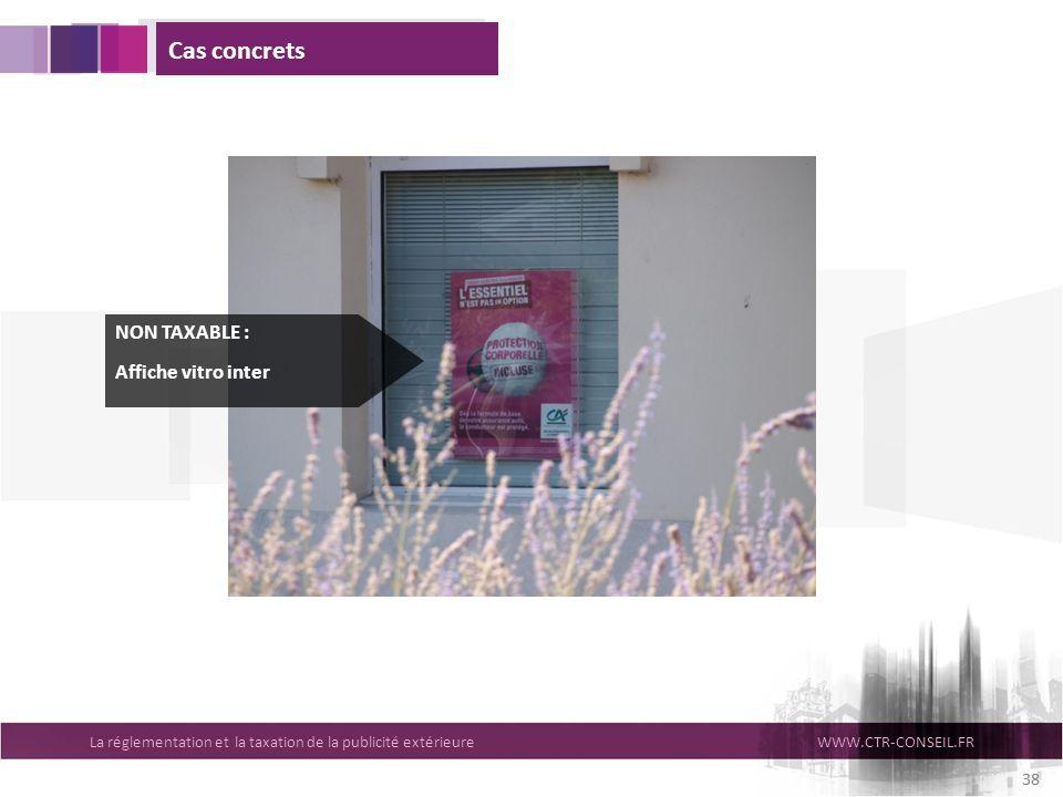 Cas concrets NON TAXABLE : Affiche vitro inter 38
