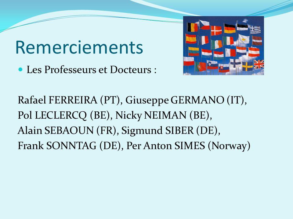 Remerciements Les Professeurs et Docteurs :