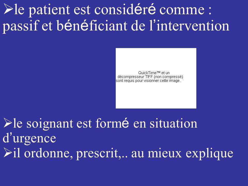 le patient est considéré comme :