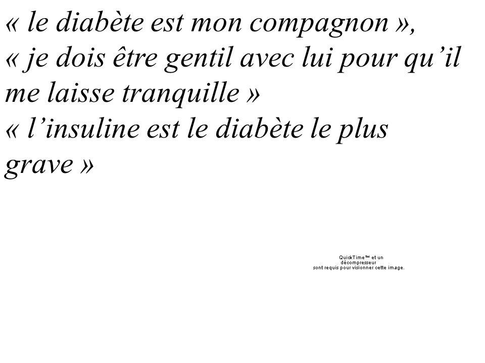« le diabète est mon compagnon »,