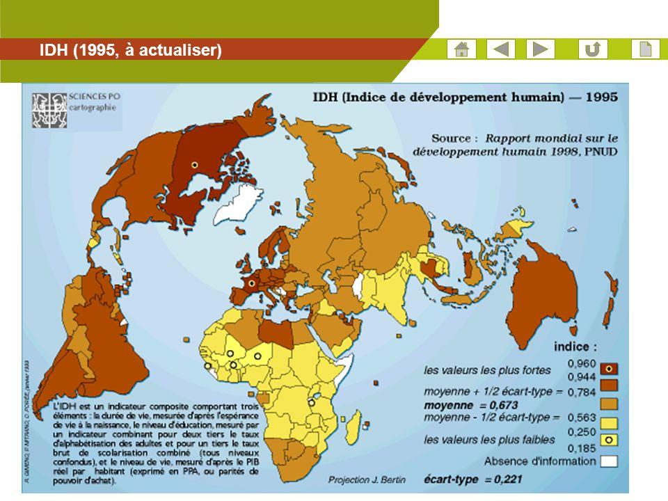 IDH (1995, à actualiser)