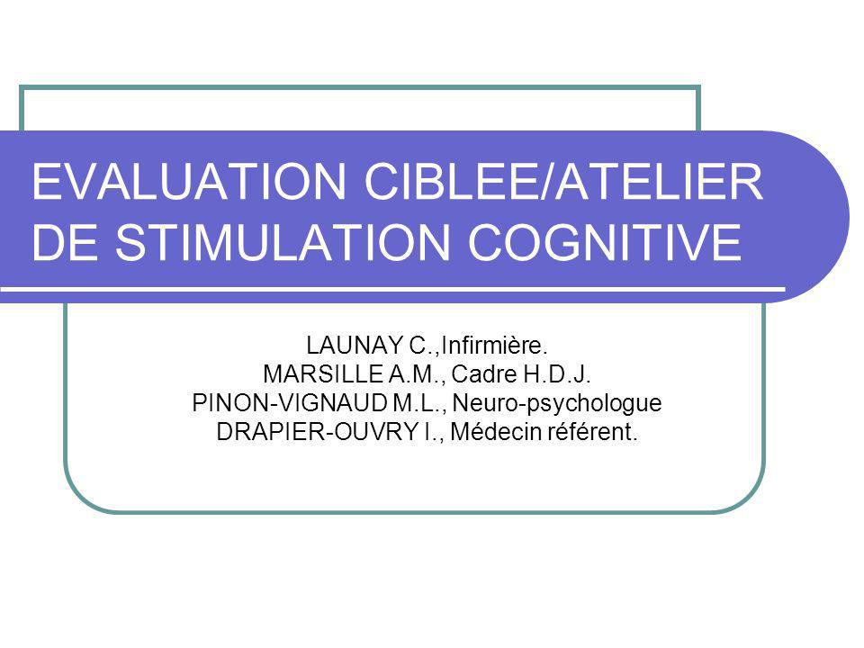 EVALUATION CIBLEE/ATELIER DE STIMULATION COGNITIVE
