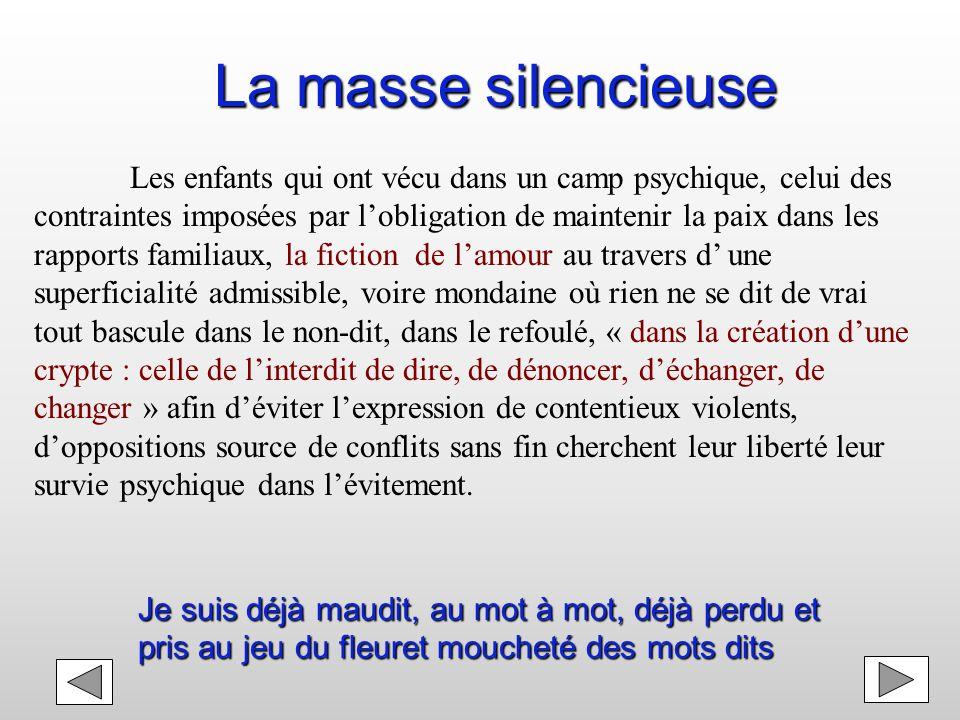 La masse silencieuse