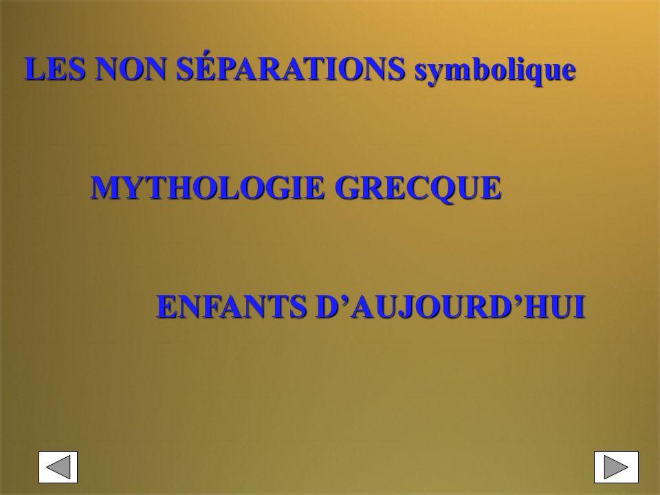 LES NON SÉPARATIONS symbolique
