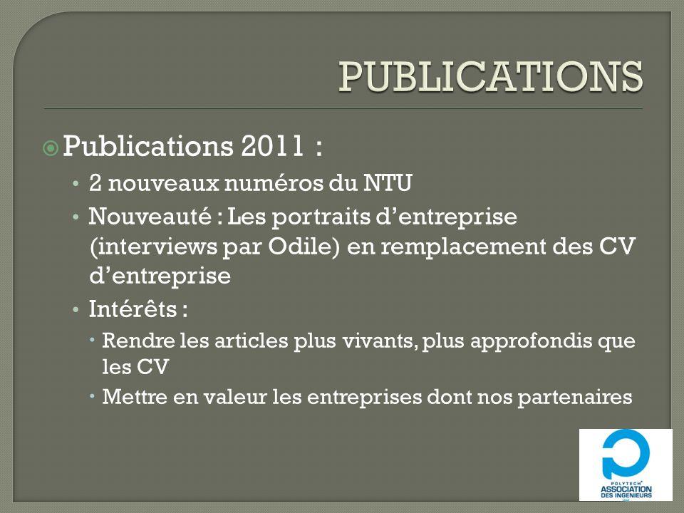 PUBLICATIONS Publications 2011 : 2 nouveaux numéros du NTU