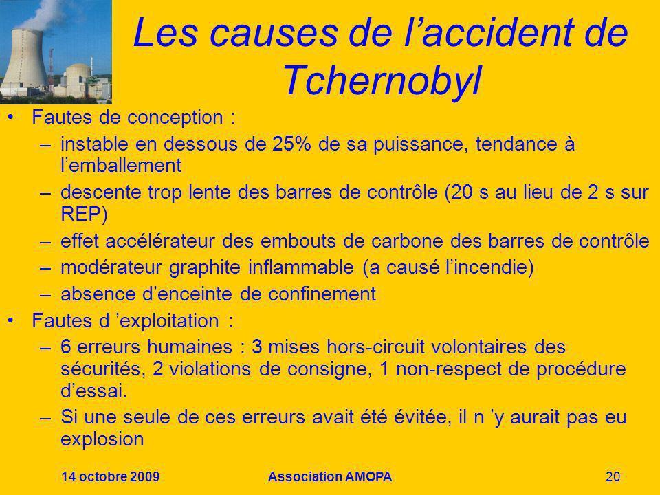 Les causes de l'accident de Tchernobyl