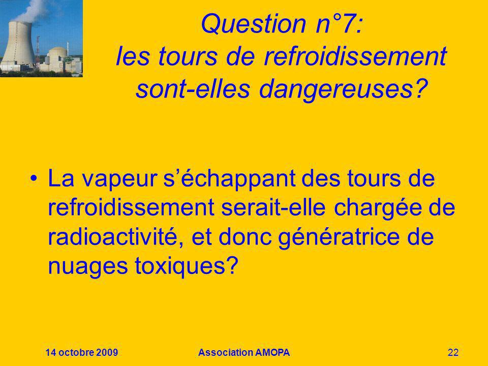 Question n°7: les tours de refroidissement sont-elles dangereuses