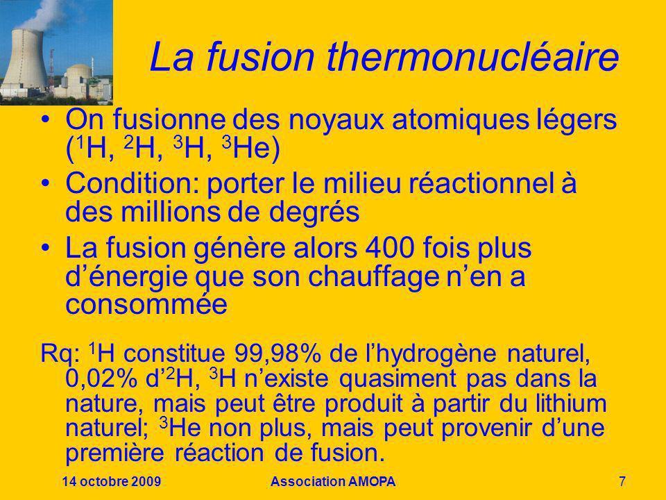 La fusion thermonucléaire