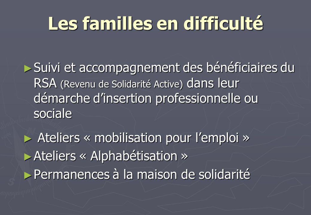Les familles en difficulté