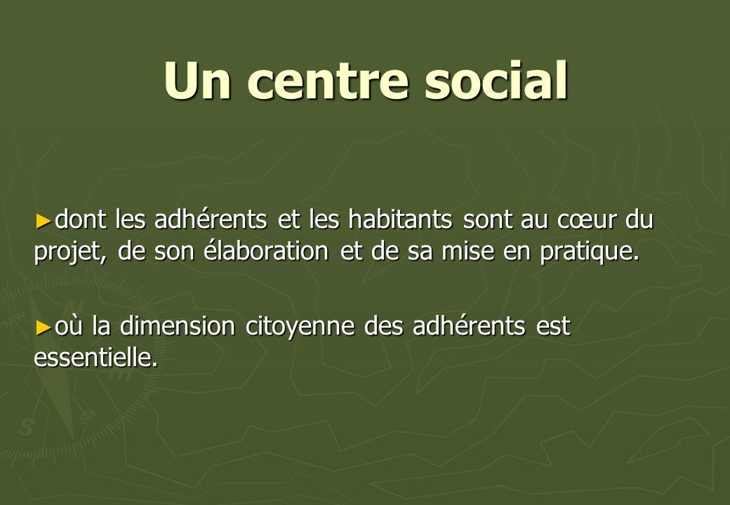 Un centre social dont les adhérents et les habitants sont au cœur du projet, de son élaboration et de sa mise en pratique.