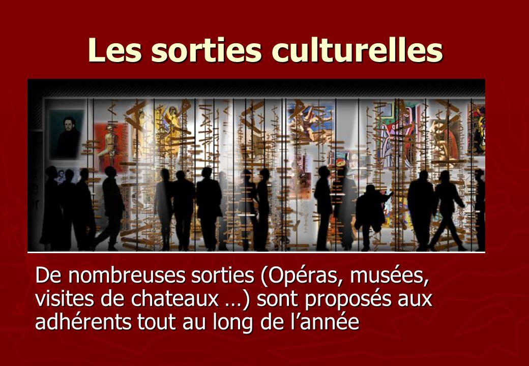 Les sorties culturelles