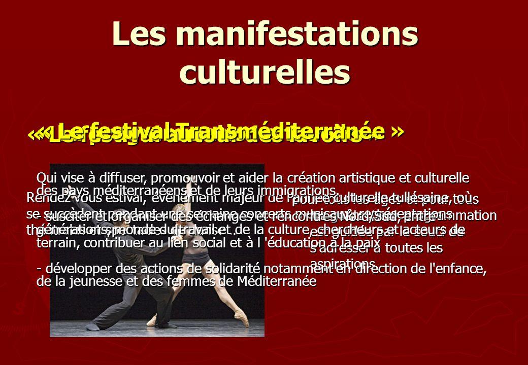 Les manifestations culturelles