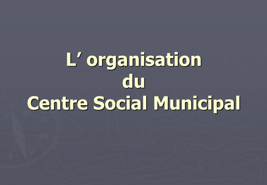 L' organisation du Centre Social Municipal