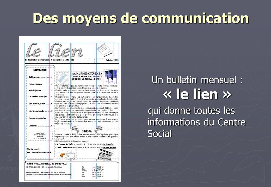 Des moyens de communication