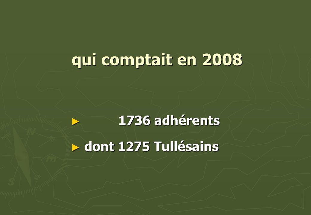 qui comptait en 2008 1736 adhérents dont 1275 Tullésains