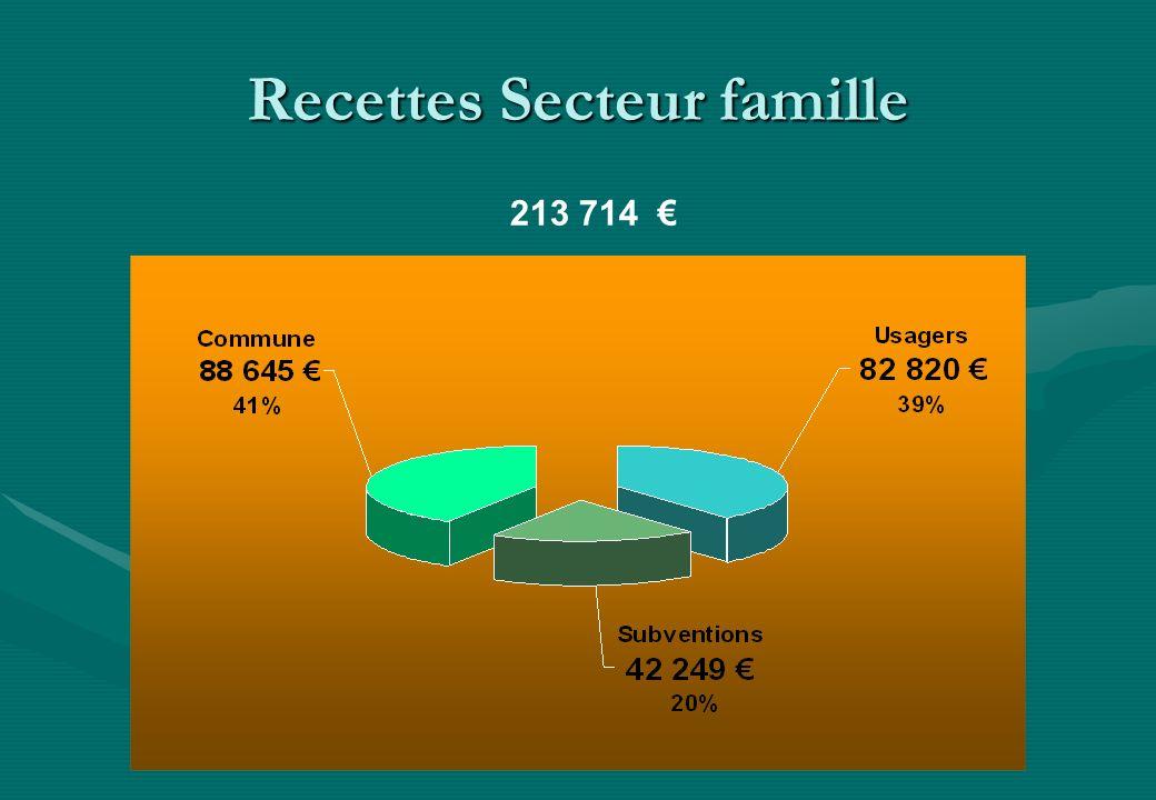 Recettes Secteur famille