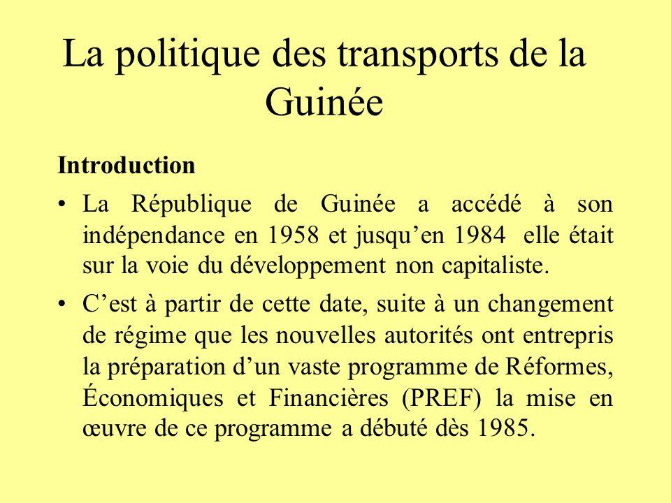 La politique des transports de la Guinée