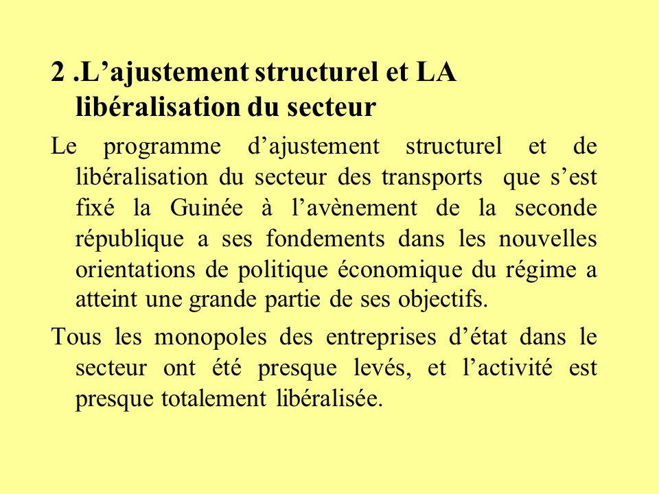 2 .L'ajustement structurel et LA libéralisation du secteur