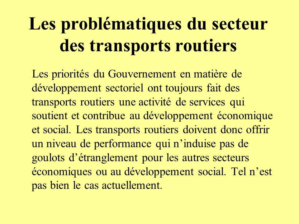 Les problématiques du secteur des transports routiers